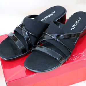 Aerosoles Flagship Black Pump Sandals Brand New